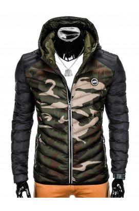 Куртка мужская демисезонная K366 - зеленый/камуфляжный