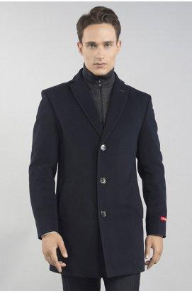 Пальто мужское осенне-весеннее Р-043 (Luxury) — Темно-Синий