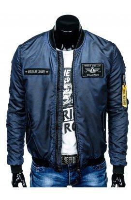 Куртка бомбер мужская демисезонная K370 - Синий