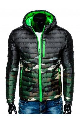 Куртка мужская демисезонная K319 -зеленый/камуфляжный
