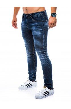 Штани чоловічі джинсові P750 - темно-сині