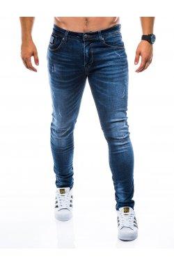 Штани чоловічі джинсові P753 - темно-сині