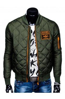 Куртка чоловіча демісезонна бомберка C357 - оливкова