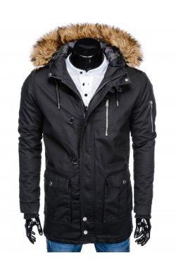 Куртка чоловіча зимова парка C365 - чорна