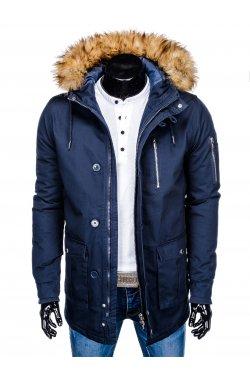 Куртка чоловіча зимова парка C365 - темно-синя