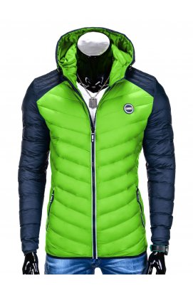 Куртка мужская демисезонная стеганая K366 - зеленый/Синий