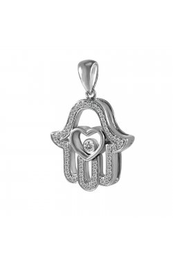 Кулон из белого золота с бриллиантами (1673899)