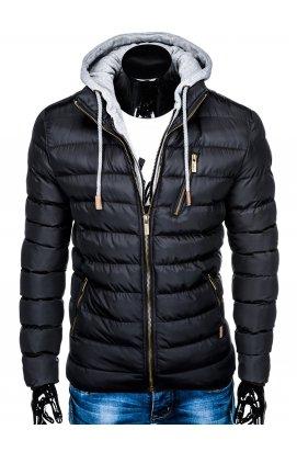 Куртка мужская демисезонная стеганая K384 - черный