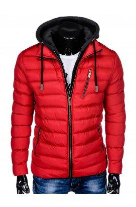 Куртка чоловіча демісезонна стьобана C384 - червона