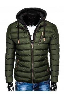 Куртка мужская демисезонная стеганая K384 - хаки
