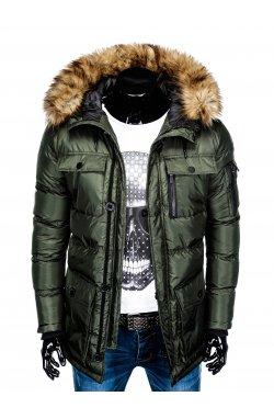 Куртка чоловіча зимова парка C355 - хакі