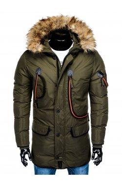 Куртка чоловіча зимова парка C369 - хакі