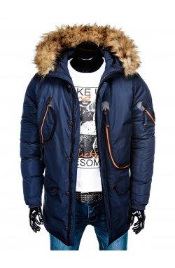 Куртка чоловіча зимова парка C369 - темно-синя