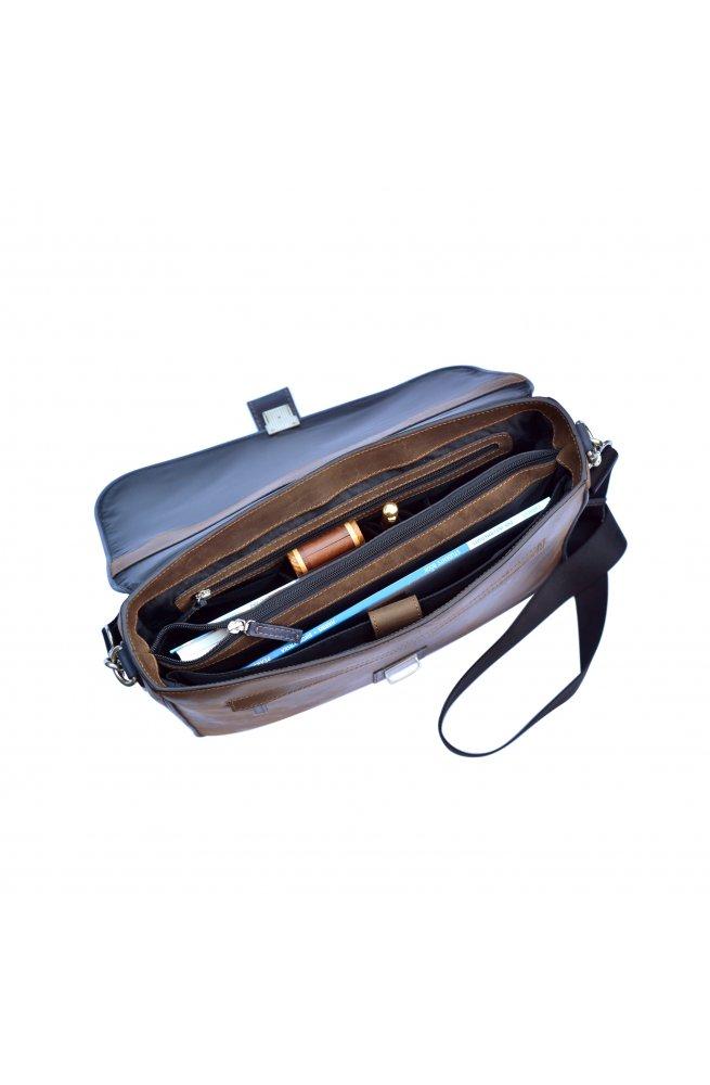 Винтажный мужской кожаный портфель