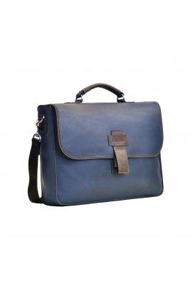Винтажный мужской кожаный портфель Issa Hara