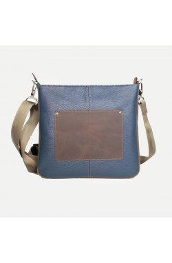 Стильная мужская сумка  через плечо синяя