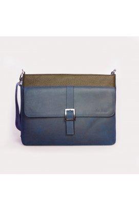 Мужская сумка  через плечо синяя Issa Hara - B17 (12-33)