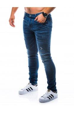 Штани чоловічі джинсові P774 - темно-сині