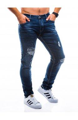 Штани чоловічі джинсові P782 - темно-сині