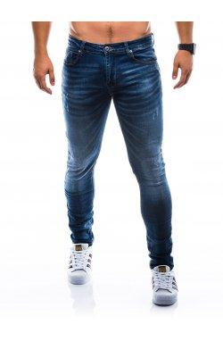 Штани чоловічі джинсові P784 - темно-сині