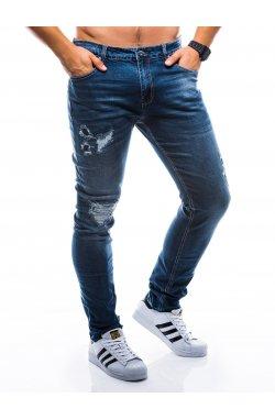 Штани чоловічі джинсові P786 - темно-сині