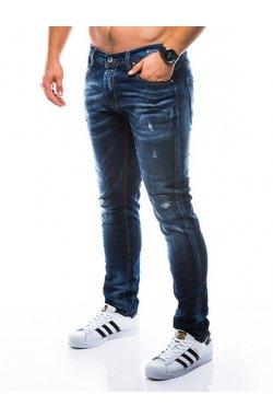 Штани чоловічі джинсові P788 - темно-сині