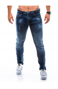 Штани чоловічі джинсові P765 - темно-сині