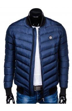 Куртка бомбер мужская демисезонная K378 - Синий