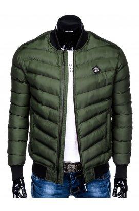 Куртка бомбер мужская демисезонная K378 - хаки