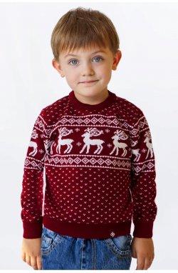 Светр Різдвяний з оленями дитячий