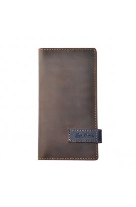 Клатч кошелек из кожи коричневый Issa Hara - CL3 (32-33)
