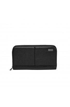 Кожаный клатч черный Issa Hara - CL2-1 (11-00)