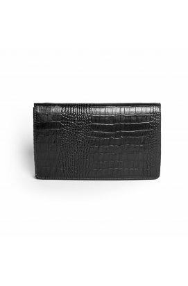 Черный кожаный клатч Issa Hara