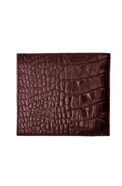 Мужской кожаный кошелек коричнеый