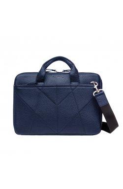 Кожаная сумка для ноутбука 13″ синяя