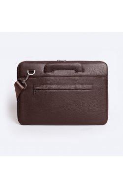 """Кожаная сумка для ноутбука коричневая MacBook 13"""""""