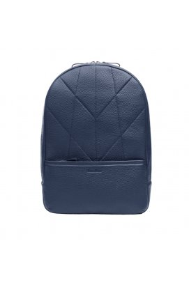 Мужской кожаный рюкзак синий