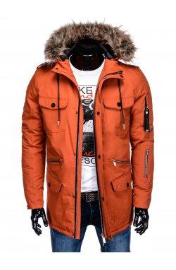 Куртка чоловіча зимова C382 - теракотова