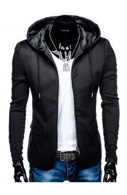 Піджак чоловічий повсякденний з капюшоном M98 - чорний