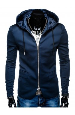 Піджак чоловічий повсякденний з капюшоном M98 - темно-синій