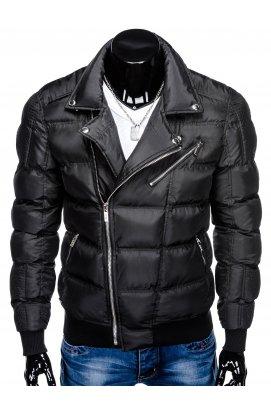 Куртка чоловіча демісезонна стьобана C373 - чорна