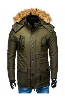 Куртка чоловіча зимова парка C361 - хакі