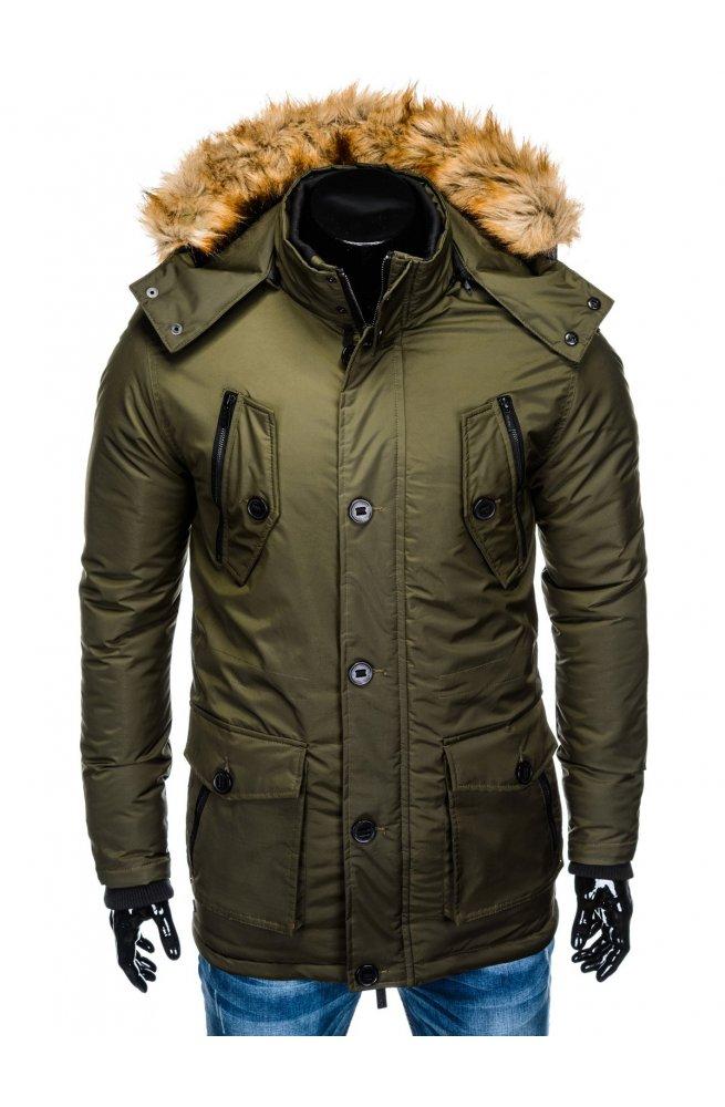 Куртка парка мужская зимняя K361 - хаки