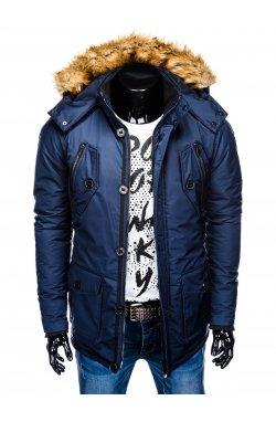 Куртка чоловіча зимова парка C361 - темно-синя