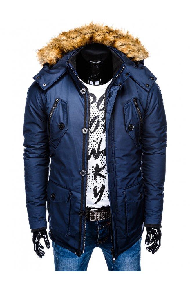 Куртка парка мужская зимняя K361 - синий