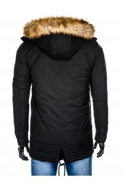 Куртка чоловіча зимова парка C361 - чорна
