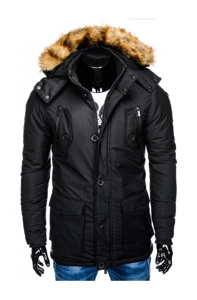 Куртка парка мужская зимняя K361 - черный