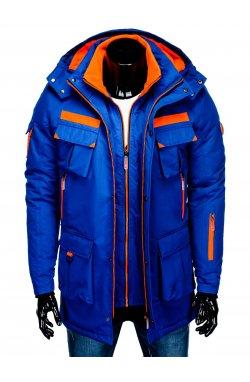 Куртка чоловіча зимова парка C379 - синя
