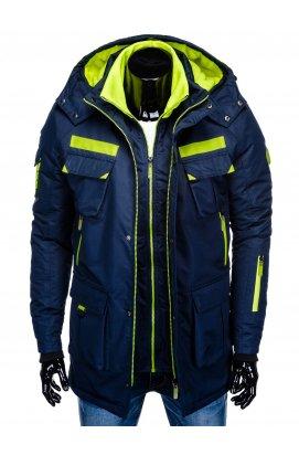 Куртка парка мужская зимняя K379 - синий