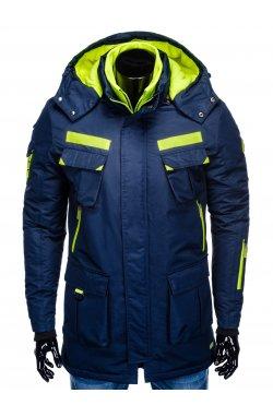 Куртка чоловіча зимова парка C379 - темно-синя